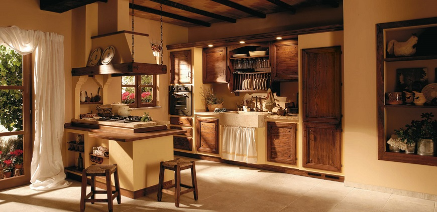 Cucine country chic in muratura rustiche